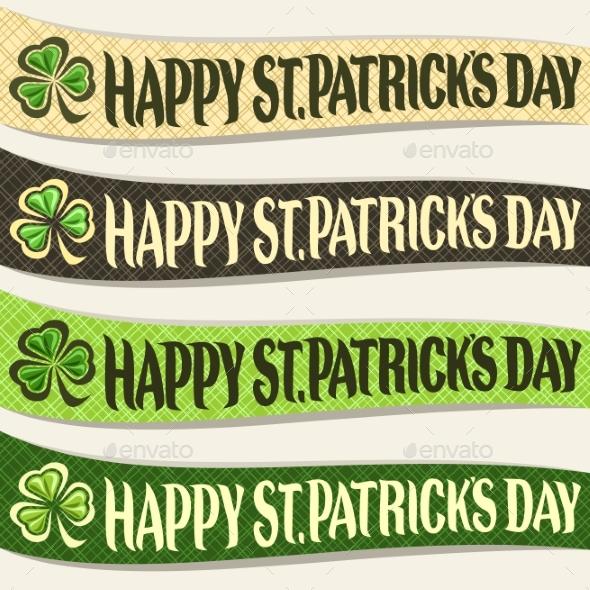 Vector Set of Ribbons for Saint Patricks Day