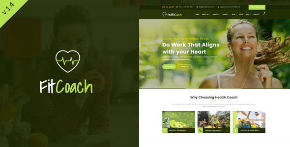 Fit Coach - Personal Trainer WordPress Theme