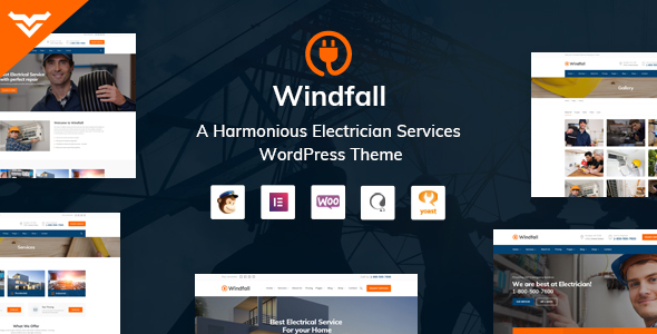 Windfall - Electrician Services WordPress Theme