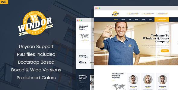 Windor – Manufacturing WordPress Theme