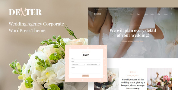 Dexter - Elegant Wedding WordPress Theme