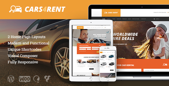 Cars4Rent | Auto Rental & Taxi Service WordPress Theme