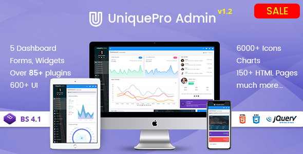 UniquePro - Bootstrap 4 Responsive Admin Templates & Web Apps Dashboards