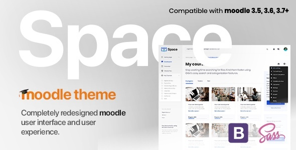 Space v1.9.24 | Responsive Premium LMS Moodle 3.5, 3.6, 3.7, 3.8, 3.9+ Theme, based on Bootstrap 4