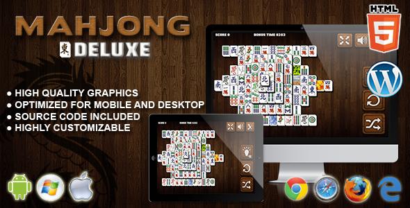 Mahjong Deluxe - gra HTML5