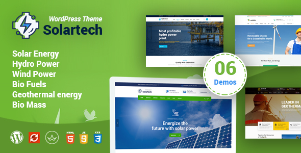 Solar Tech - Alternative & Renewable Energy WordPress Theme