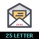 25 E-mail & Letter Color Icon - GraphicRiver Item for Sale