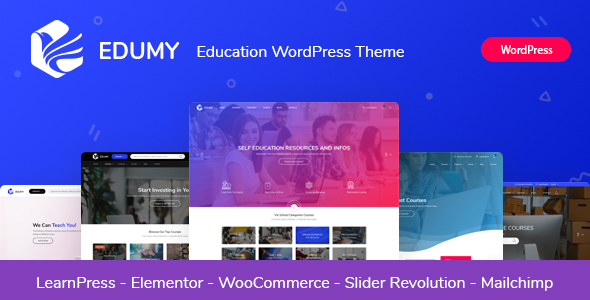 Edumy - LMS Online Education Course WordPress Theme