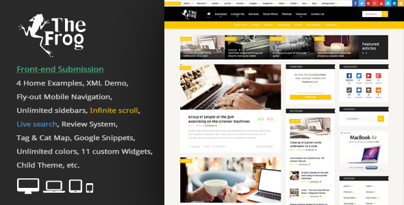 The Frog = Creative News / Blog Magazine & Front-end Submission WP Theme
