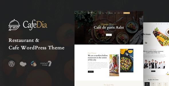 CafeDia - Restaurant WordPress Theme