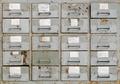 Vintage grey metal cabinet with drawers - PhotoDune Item for Sale