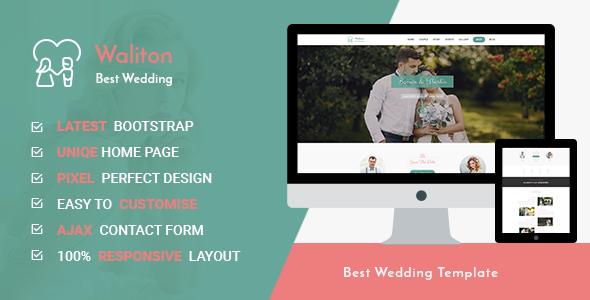 Waliton - Responsive HTML5 Wedding Template