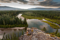 Yukon Canada taiga wilderness and McQuesten River - PhotoDune Item for Sale