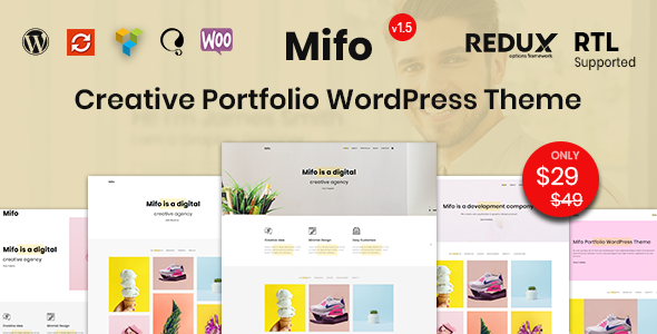 Mifo - Creative Minimal Portfolio WordPress Theme