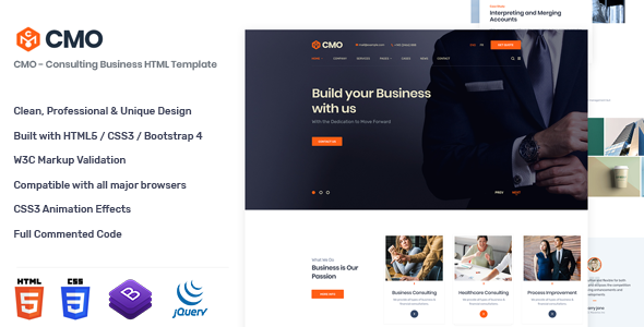 CMO -  Consulting Business HTML Template
