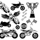 Set of Motorcycle Elements - GraphicRiver Item for Sale