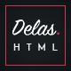 Delas - Dark Minimalist Blogging HTML Template - ThemeForest Item for Sale