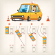 Vector Infographics on Parallel Parking - GraphicRiver Item for Sale