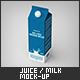 Juice / Milk Packaging Mock-Up - GraphicRiver Item for Sale