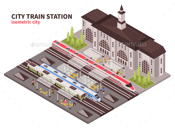 Train Station Graphics, Designs & Templates from GraphicRiver