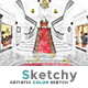 Sketchy - Artistic Color Sketch   PS Action - GraphicRiver Item for Sale