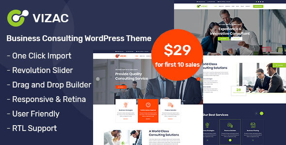 Vizac - Consulting Business WordPress Theme