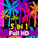 Summer Pop Palm Tree VJ Loops - VideoHive Item for Sale