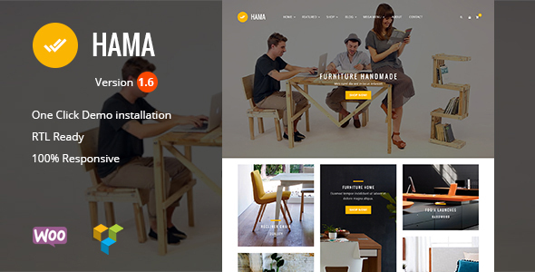 Hama - Store Furniture Home WooCommerce WordPress Theme