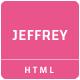 Jeffrey - Personal Portfolio Template - ThemeForest Item for Sale