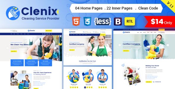 Cleanix - Cleaning Services HTML Template