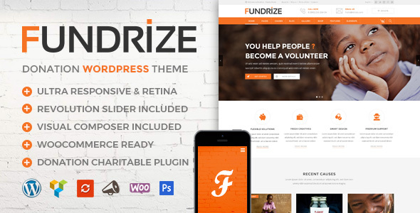 Fundrize | Responsive Donation & Charity WordPress Theme