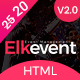 Elkevent - Conference and Meetup HTML Template - ThemeForest Item for Sale