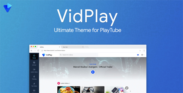 VidPlay - najlepszy motyw PlayTube