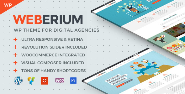 Weberium | Responsive WordPress Theme Tailored for Digital Agencies