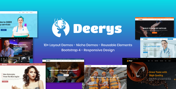 Deerys - Responsive Multi-Purpose HTML Template