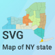 Map of New York State - CodeCanyon Item for Sale