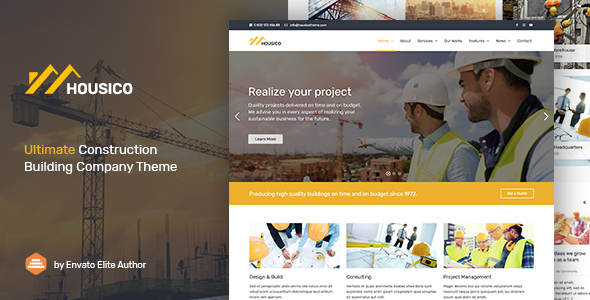 Housico - Ultimate Construction Building Company Theme