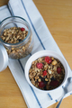 granola with fried oatmeal flakes, hazelnuts, peanuts, dried raisins and cherries - PhotoDune Item for Sale