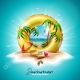 Vector Summer Holiday Illustration with Yellow - GraphicRiver Item for Sale