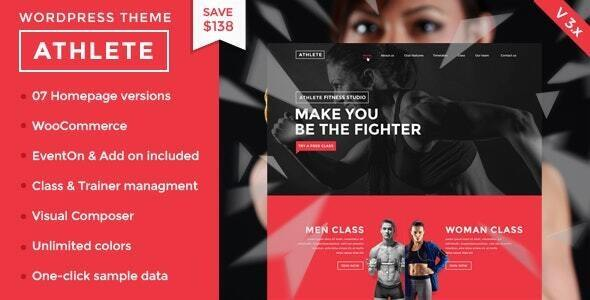 Athlete Fitness | Gym and Sport WordPress Theme