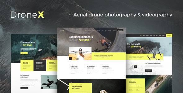 DroneX   Aerial Photography & Videography WordPress Theme