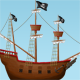 Pirate Ship Illustration