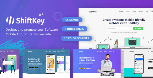 ShiftKey - Landing Pages WordPress Theme