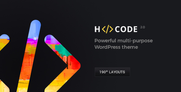 H-Code Responsive & Multipurpose WordPress Theme