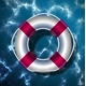 Lifebuoy on the Background of the Water Surface - GraphicRiver Item for Sale