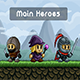 Fantasy Game Main 2D Heroes Pixel Art - GraphicRiver Item for Sale
