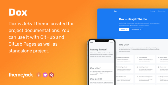 Dox — Jekyll Theme for Project Documentation