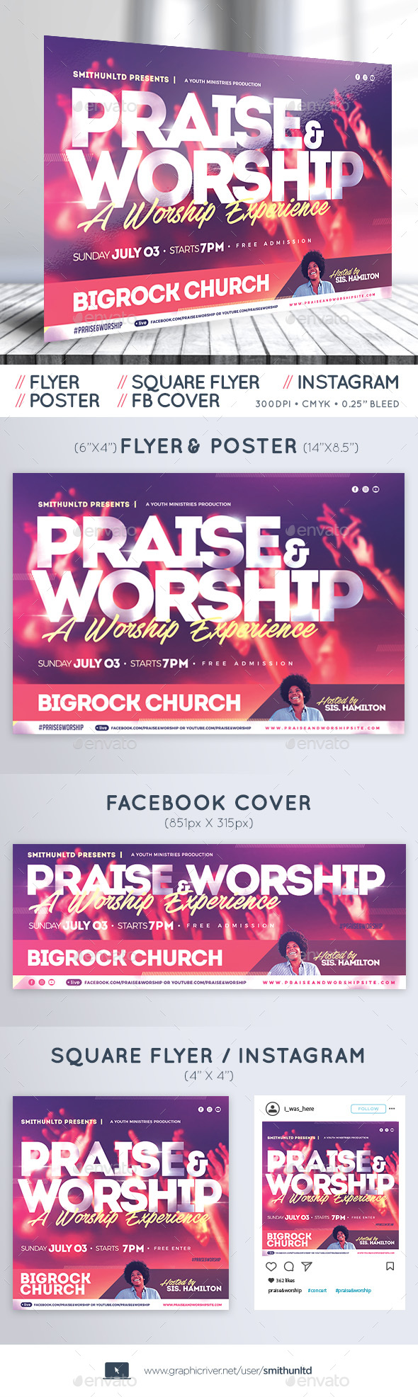 Worship Flyer Graphics, Designs & Templates from GraphicRiver