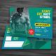 GYM Fitness Postcard - GraphicRiver Item for Sale