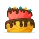 Happy Birthday Cake with Chocolate - GraphicRiver Item for Sale